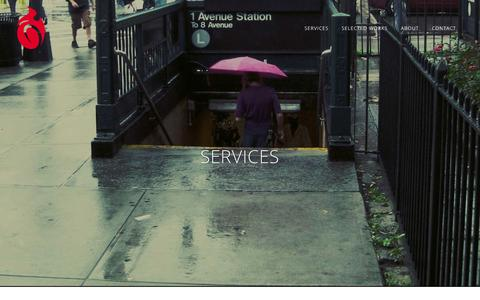 Screenshot of Services Page darkroastmedia.com - Dark Roast Media     Services - captured Oct. 29, 2014