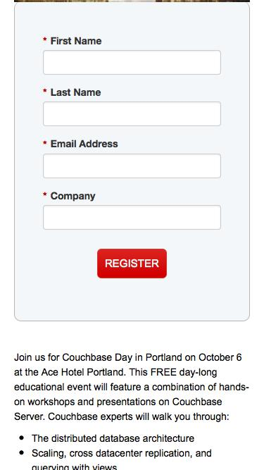 Couchbase Day Portland