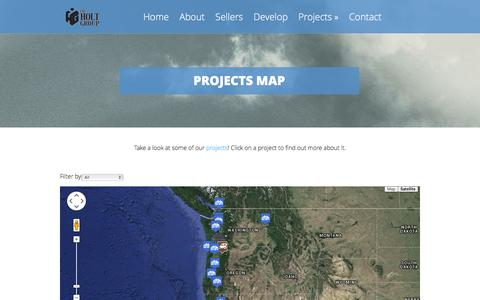 Screenshot of Maps & Directions Page holtgroupinc.com - Projects Map - Holt | Holt - captured Jan. 23, 2016