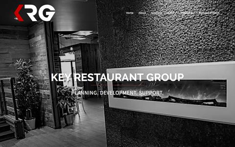 Screenshot of Home Page keyrestaurantgroup.com - Key Restaurant Group | Start-Up & Development Consultant - captured Sept. 20, 2018