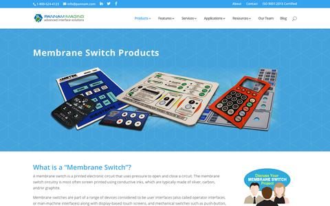 Screenshot of Products Page pannam.com - Membrane Switches: The World's Best Custom Switches and Panels - Pannam - captured Oct. 31, 2018