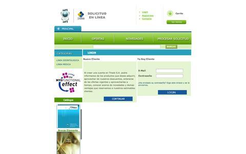 Screenshot of Login Page euroaura.org - osCommerce - captured Oct. 3, 2014