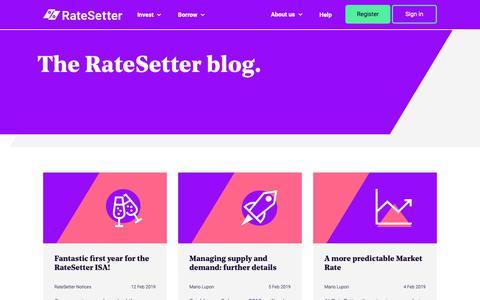 Screenshot of Blog ratesetter.com - Blog | Ratesetter - captured March 26, 2019