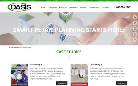 Screenshot of Case Studies Page connectoasis.com - Case Studies | Connect Oasis - captured Dec. 11, 2015