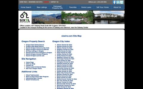 Screenshot of Site Map Page sixelre.com - SIXEL Real Estate  (6Lre) - captured Feb. 15, 2016