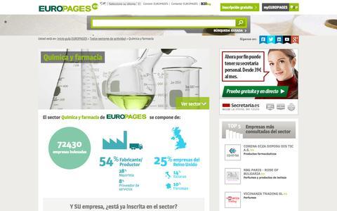 Screenshot of europages.es - Química y farmacia , todos los proveedores para España y Europa de EUROPAGES - captured Sept. 12, 2015