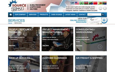 Screenshot of Services Page source-supply.com - China Exports Logistics Services   Supply Chain   Source Supply - captured Sept. 22, 2014