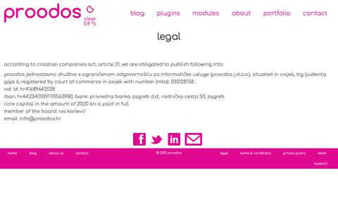 Screenshot of Terms Page prood-os.com - Legal - captured Dec. 8, 2018