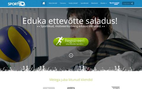 Screenshot of Home Page sportid.ee - SportID.ee - captured Sept. 10, 2014