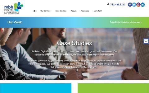 Screenshot of Case Studies Page robbdigital.com - Our Work - Robb Digital Marketing - captured Aug. 16, 2019