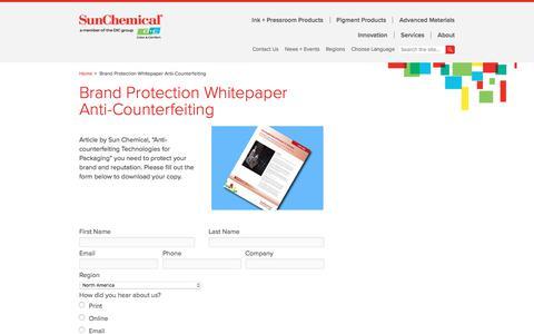 Brand Protection Whitepaper Anti-Counterfeiting