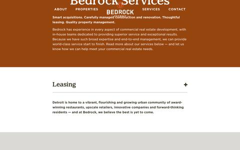 Screenshot of Services Page bedrockdetroit.com - Bedrock - Services - captured Nov. 22, 2016