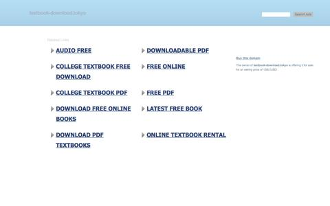 Screenshot of Home Page textbook-download.tokyo - textbook-download.tokyo-This website is for sale!-textbook-download Resources and Information. - captured July 10, 2018