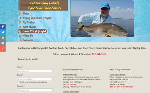 Screenshot of Contact Page specfever.com - Spec Fever Guide Service : Contact - captured Dec. 7, 2016
