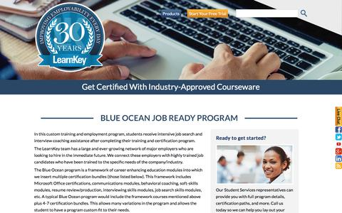 Blue Ocean Job Ready Program | LearnKey Online Custom Training