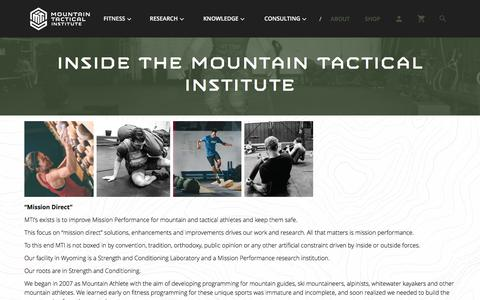 Screenshot of About Page mtntactical.com - Inside Strong Swift Durable - captured Jan. 27, 2017
