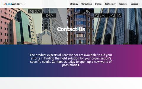 Screenshot of Contact Page leadwinner.com - Contact Us | Leadwinner - captured March 27, 2016