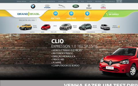 Screenshot of Home Page grandbrasil.com.br - Grand Brasil - Carros novos e seminovos em São Paulo - captured Feb. 1, 2016