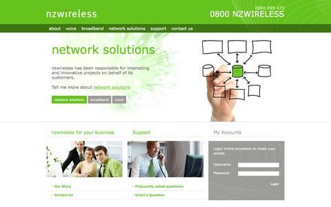 Screenshot of Home Page nzwireless.co.nz - nzwireless - captured Oct. 7, 2014