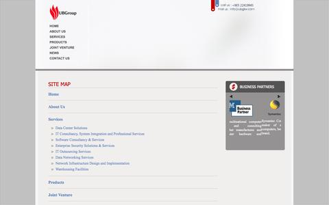 Screenshot of Site Map Page ubgkw.com - :: United Business Group - Leader in IT Infrastructure Management and Technical Support Services in Kuwait :: - captured Oct. 27, 2014
