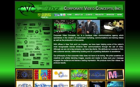 Screenshot of Home Page video-productions.com - Corporate Video Concepts, Inc. : Video Production : Video Training : Video Marketing : Live Events : NYC : LA - captured Oct. 3, 2014