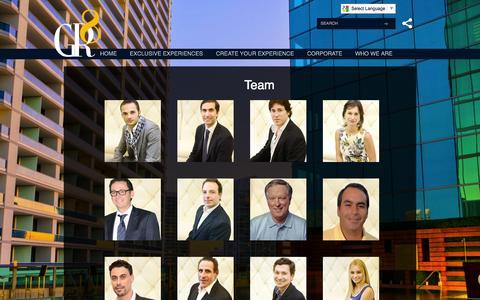 Screenshot of Team Page gr8-group.com - Team - captured Sept. 27, 2014