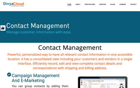 Screenshot of About Page Jobs Page divyacloud.com - CRM Contact Management | Cloud Contact Management - captured June 27, 2016