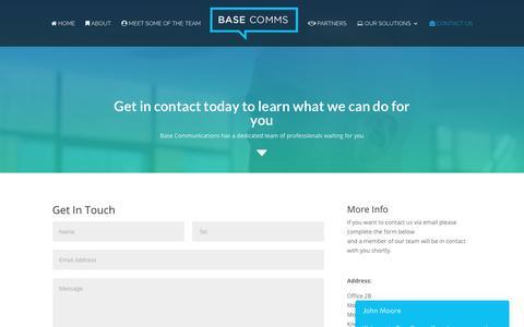 Screenshot of Contact Page base-communications.co.uk - Contact us • Base Communications - captured Oct. 5, 2018