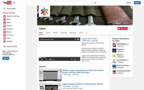 Screenshot of YouTube Page youtube.com - Lagoa  - YouTube - captured Oct. 22, 2014