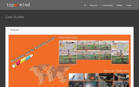 Screenshot of Case Studies Page topofmindbd.com - Case Studies | Top of Mind Bangladesh - captured Jan. 13, 2016