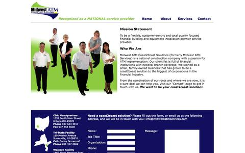 Screenshot of About Page midwestatmservices.com - Midwest ATM Coast2Coast Solutions | About Us - captured Oct. 27, 2014