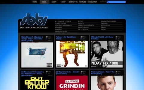Screenshot of Blog sbtv.co.uk - Blog – SB.TV – The UK's leading online youth broadcaster. - captured Sept. 19, 2014