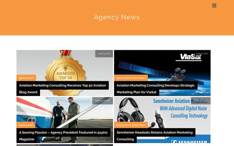Screenshot of Press Page aviationmarketing.aero - Agency News | Aviation Marketing Consulting - captured May 30, 2018
