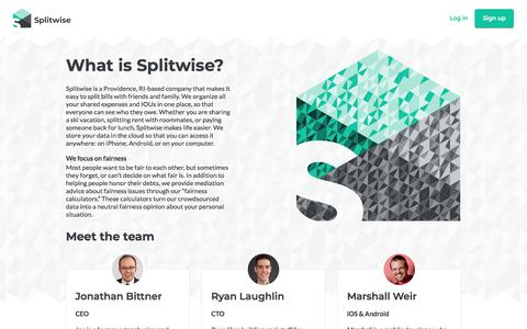 Screenshot of About Page splitwise.com - About :: Splitwise - captured July 13, 2019