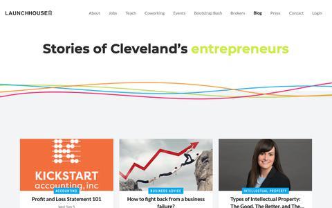 Screenshot of Blog launchhouse.com - Blog - LaunchHouse - captured Sept. 27, 2018