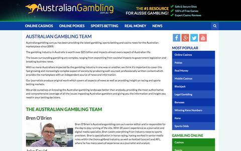 Screenshot of Team Page australiangambling.com.au - The Australian Gambling Team - captured May 31, 2017