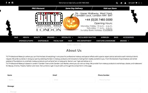 Screenshot of About Page tiltmakeup.com - About Us – TILT Professional Makeup - captured Oct. 24, 2017