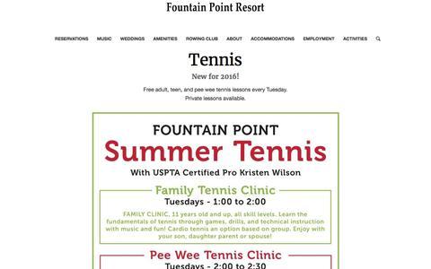 Tennis – Fountain Point Resort