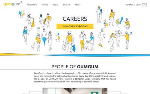 Screenshot of Jobs Page gumgum.com - Careers | GumGum - captured Aug. 6, 2018