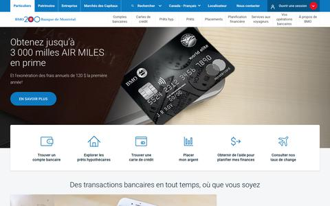 Particuliers | BMO Banque de Montréal