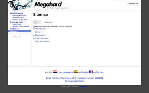 Screenshot of Site Map Page megahard.pro - Sitemap - Megahard technology development services - Megahard - captured Oct. 27, 2014