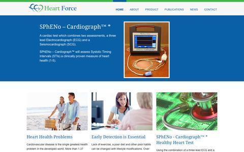 Screenshot of Home Page heartforcemedical.com - Home - Heart Force Medical Inc. - captured Jan. 23, 2015