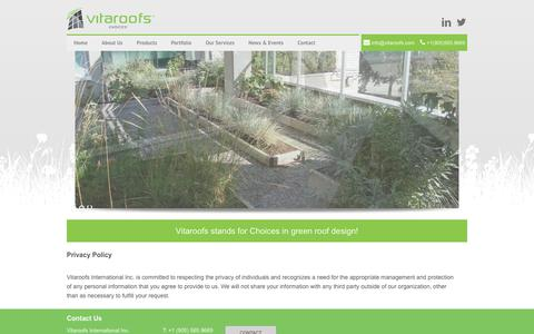 Screenshot of Privacy Page vitaroofs.com - Privacy Policy | Vitaroofs - captured Nov. 18, 2018