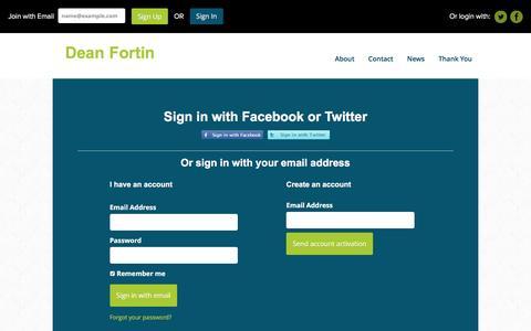 Screenshot of Login Page nationbuilder.com - Sign in - captured May 22, 2016