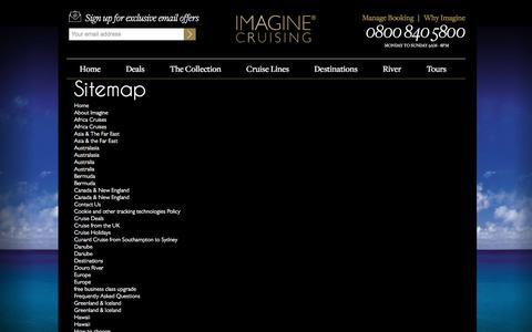 Screenshot of Site Map Page imaginecruising.co.uk - Sitemap |  Imagine Cruising - captured June 7, 2017