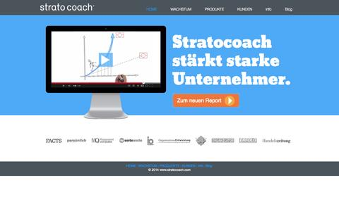 Screenshot of Home Page stratocoach.com - Home - captured Oct. 7, 2014