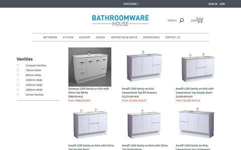 Bathroom Vanities and Storage | Bathroomware House
