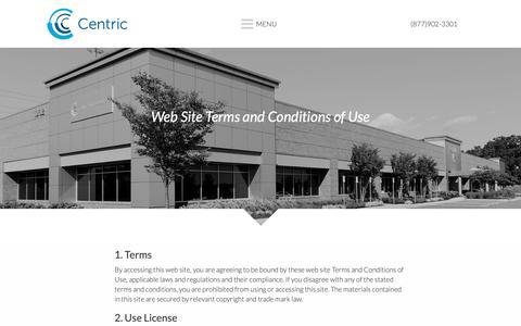 Screenshot of Privacy Page centricbiz.com - Privacy Policy – Centric Business Systems – MD, PA, DE, DC, NOVA - captured Sept. 27, 2018