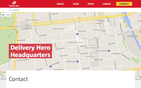 Delivery Hero – Contact