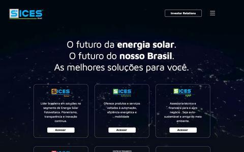 Screenshot of Home Page sicesbrasil.com.br - Sices Brasil - Líder Brasileira no setor de Energia Fotovoltaica - captured Oct. 1, 2018
